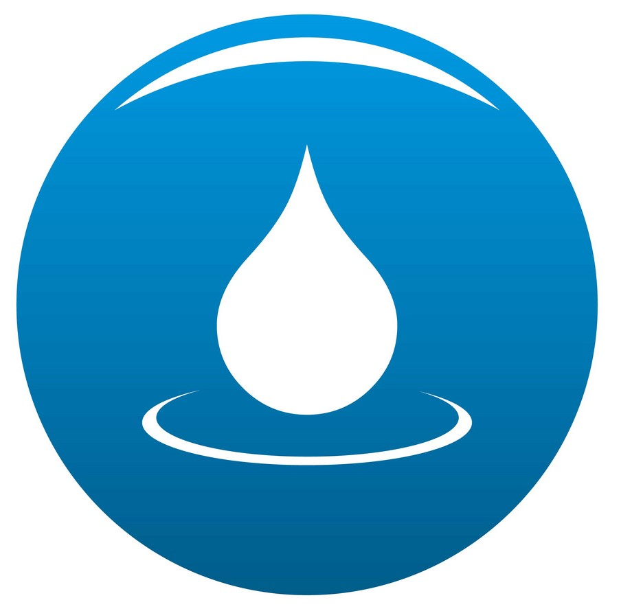 Water drop icon drinking water testing laboratory services